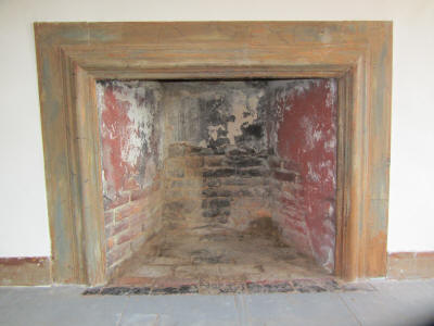 West chamber fireplace