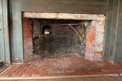 Muster Room fireplace