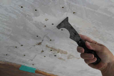 Plaster scraping