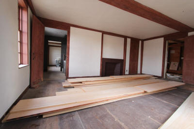 East Chamber with kitchen floor boards