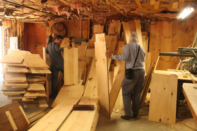 Selecting lumber for replacement floors and walls