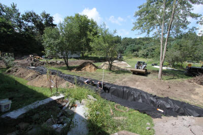 Drainage ditch in back of house.  Aug 28.