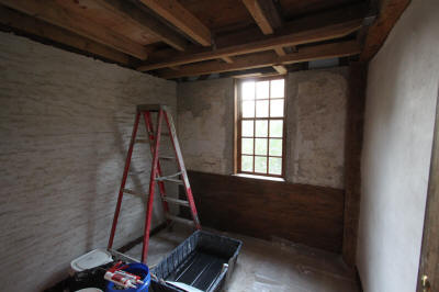 West ell rear plastered and woodwork.  Aug 30.
