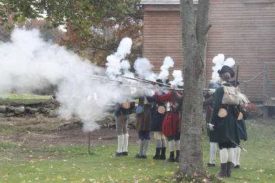 A musket salute