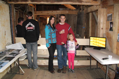 Stephanie, Greg, and Sara Peterson (Barretts) in 2nd floor rear