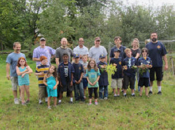 Acton Cub Scouts at Garden